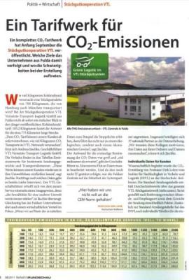 Bautagebuch Ein Tarifwerk für CO2-Emissionen