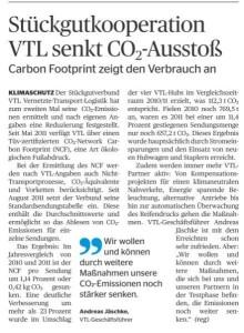 Stückgutkooperation VTL senkt CO2-Ausstoß