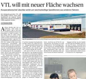 VTL will mit neuer Fläche wachsen