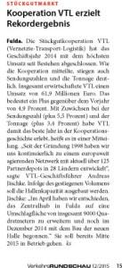 Kooperation VTL erzielt Rekordergebnis