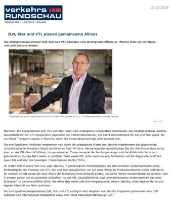 Bautagebuch ILN, Star und VTL planen gemeinsame Allianz
