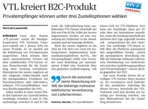 VTL kreiert B2C-Produkt