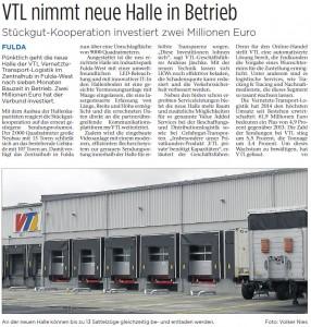 VTL nimmt neue Halle in Betrieb