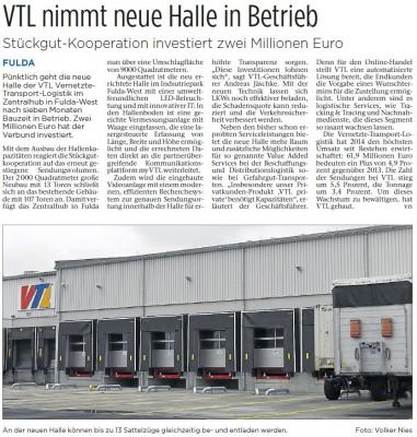Bautagebuch VTL nimmt neue Halle in Betrieb