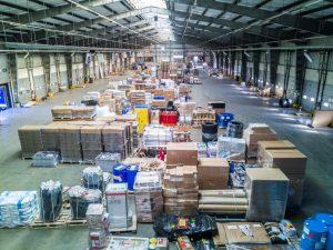 Bild: Innenansicht der ca. 9.200 qm großen Umschlaghalle für das Stückgut