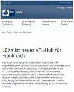 Loxx ist neues VTL-HUB für Frankreich