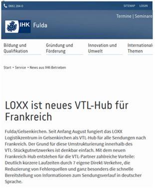Bautagebuch Loxx ist neues VTL-HUB für Frankreich