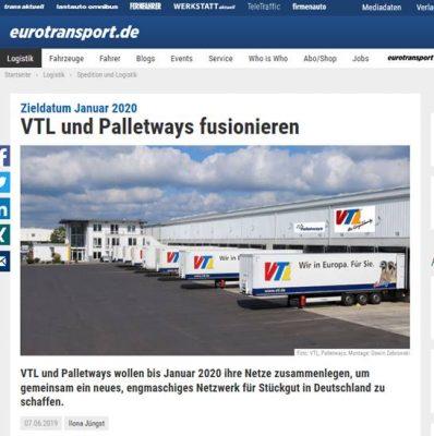 Bautagebuch VTL und Palletways fusionieren