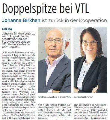 Bautagebuch Doppelspitze bei VTL